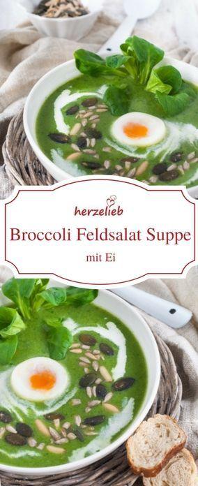Suppen Rezepte: Broccoli Feldsalat Suppe von herzelieb  #foodblog #deutsch #rezept #suppe