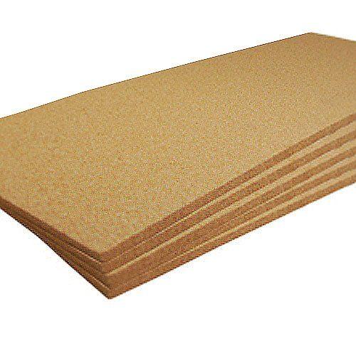 cork sheet wide x long x thick plain 5 pack sheets