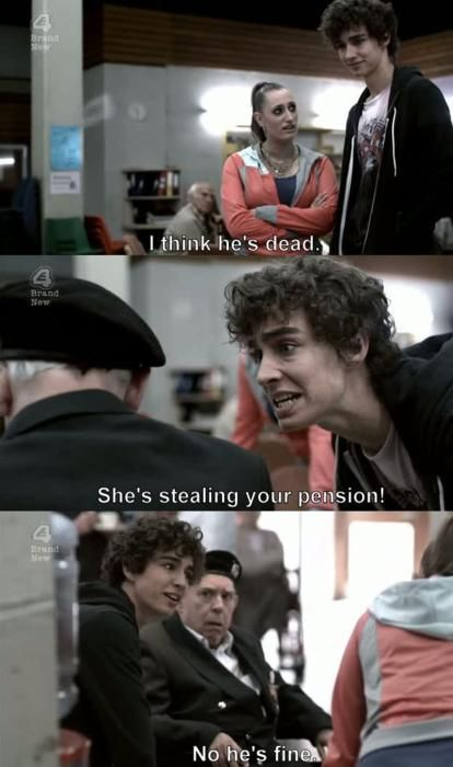 Misfits. The greatest show. It was so much better when Robert Sheehan was still on it!!!