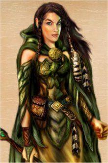 a wood elf woman