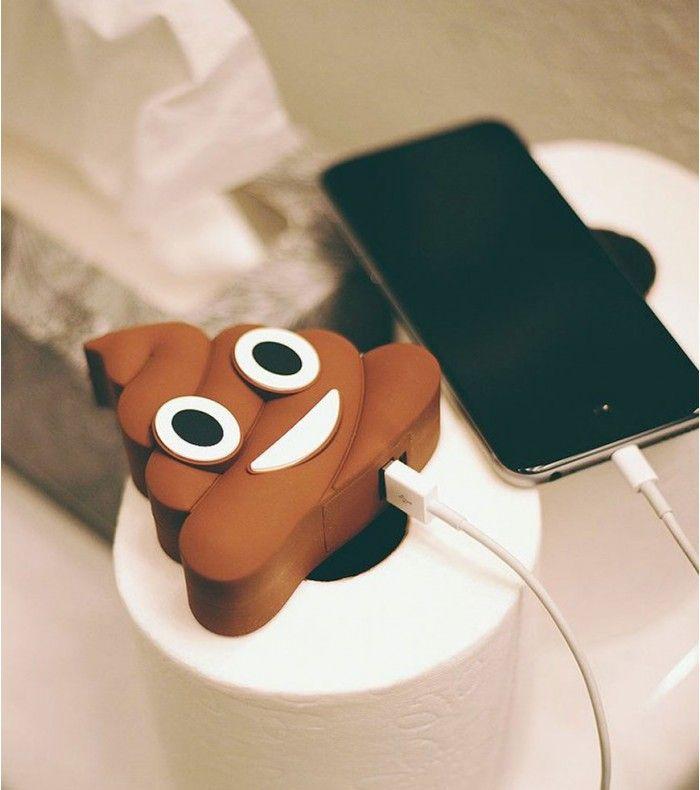 Chargeur externe emoji poop
