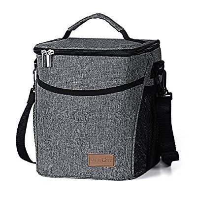 Lifewit Insulated Lunch Box for Men / Women / Kids, Large Capacity Thermal Bento Bag for Office / School / Picnic, 9L, Grey