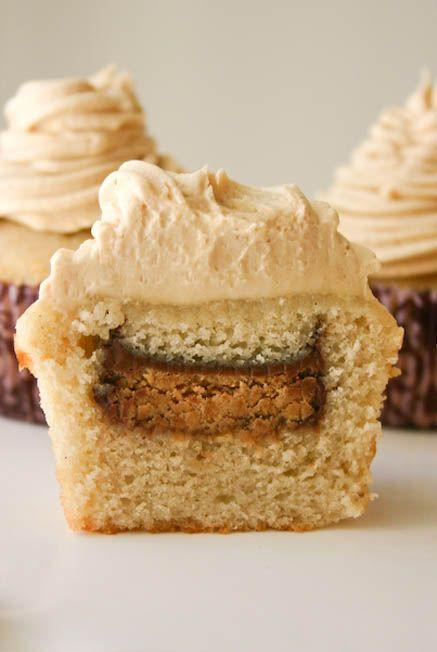 Vanilla Bean Cupcakes with Peanut Butter Buttercream