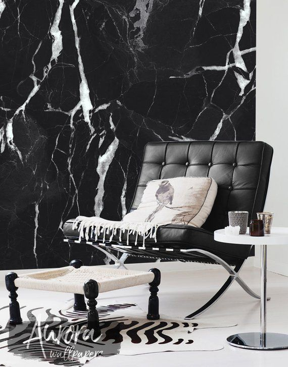 Black Marble Wall Mural Art Wall Decor Removable Wallpaper Repositionable Reusable Peel Na Stick Temporary Wallpaper 48 Marble Wall Mural Marble Wallpaper Bedroom Mural Wall Art