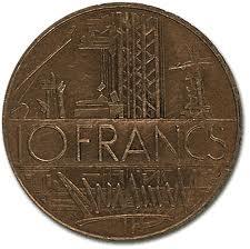 C'était la pièce suprême, donnée par les grands-parents, la richesse, la puissance. La pièce de 5 francs n'était pas mal non plus (déposée par la petite souris).