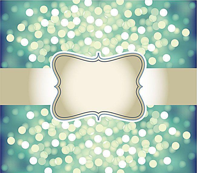 Diseño De Tarjeta Tarjeta Invitación Resplandor Verde De