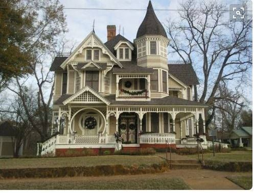 american gothic victorian witches haunted mansion house porch turret southern stye - Steamboat Gothic House Plans