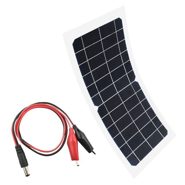 Flexible 5v 6v 10w Portable Solar Panel Charger Car Automobile Motorcycle Boat Panels Solar Cell Dc Alliga Solar Panel Charger Portable Solar Panels Solar Cell