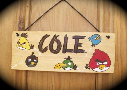 ANGRY BIRDS Bedroom Door Wall Sign Plaque PERSONALISED Wood Handmade GIFT IDEA | eBay