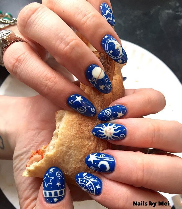 The 25 best hippie nails ideas on pinterest hippie nail art love love love this vintage moon and sun blanket print by nails by mei prinsesfo Choice Image