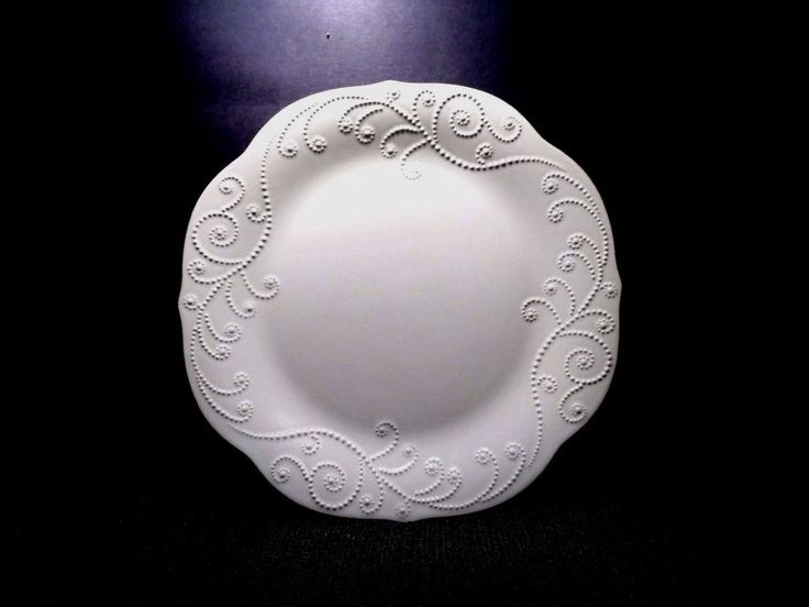 "Lenox FRENCH PERLE 11"" Dinner Plate WHITE EUC (American by Design) Bone China"