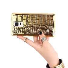 New Luxury Gold Crocodile Pattern Back Cover Case for Samsung Galaxy Note 4