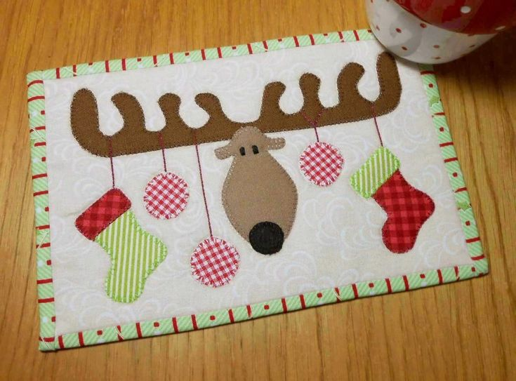 Christmas Antlers ... by The Patchsmith   Quilting Pattern - Looking for your next project? You're going to love Christmas Antlers Mug Rug by designer The Patchsmith. - via @Craftsy