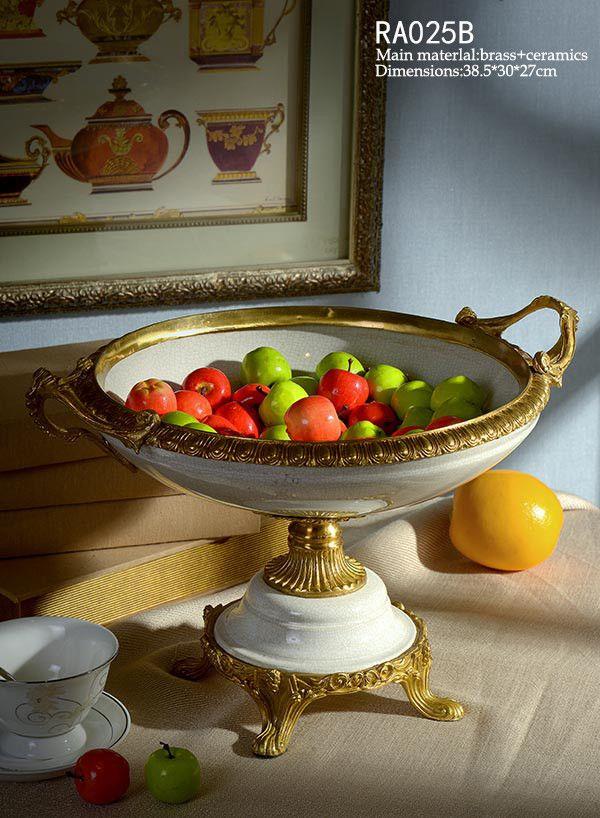 Handmade Porcelain Fruit Bowl Trophy Craft