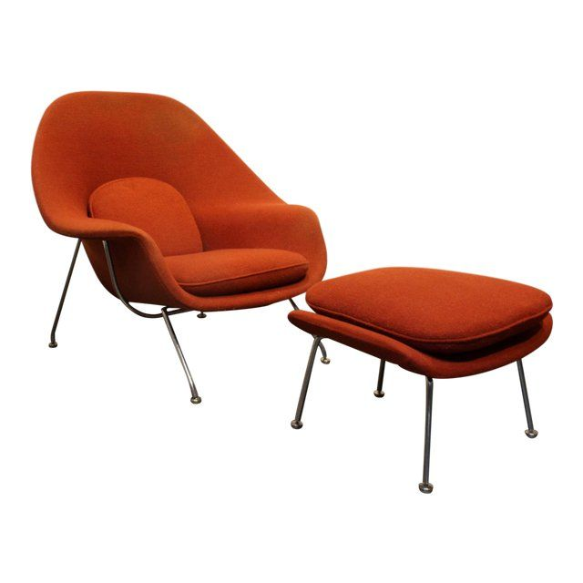 Vintage Knoll Eero Saarinen Womb Chair And Ottoman Set Circa 1960 S For Sale Eero Saarinen Womb Chair Chair And Ottoman Set Saarinen Chair