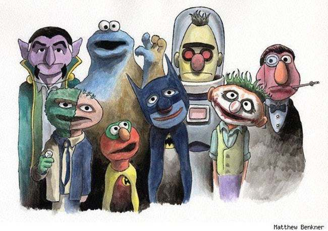 Sesame Street Characters As Ba is listed (or ranked) 26 on the list 51 Nerdtastic Pieces of Pop Culture Art