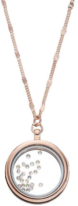 LC Lauren Conrad Long Round Shaker Pendant Necklace