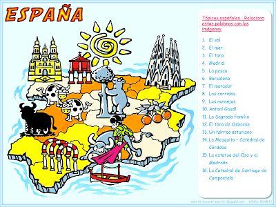 Me encanta escribir en español: Tópicos : España