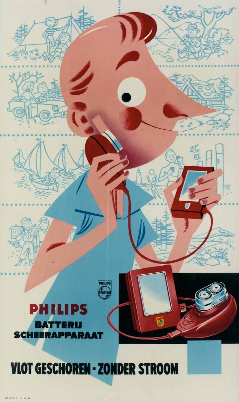 Philishave poster | 1956 #Philipsmuseum #PhilipsNL #Philips #erfgoed
