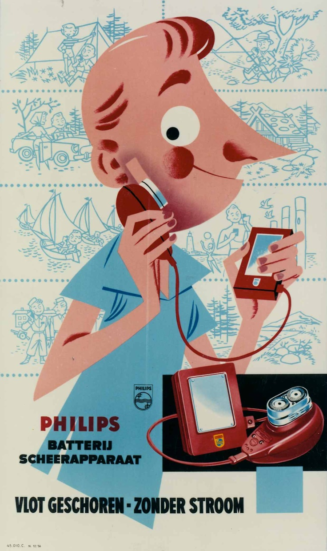 Philishave poster   1956 #Philipsmuseum #PhilipsNL #Philips #erfgoed