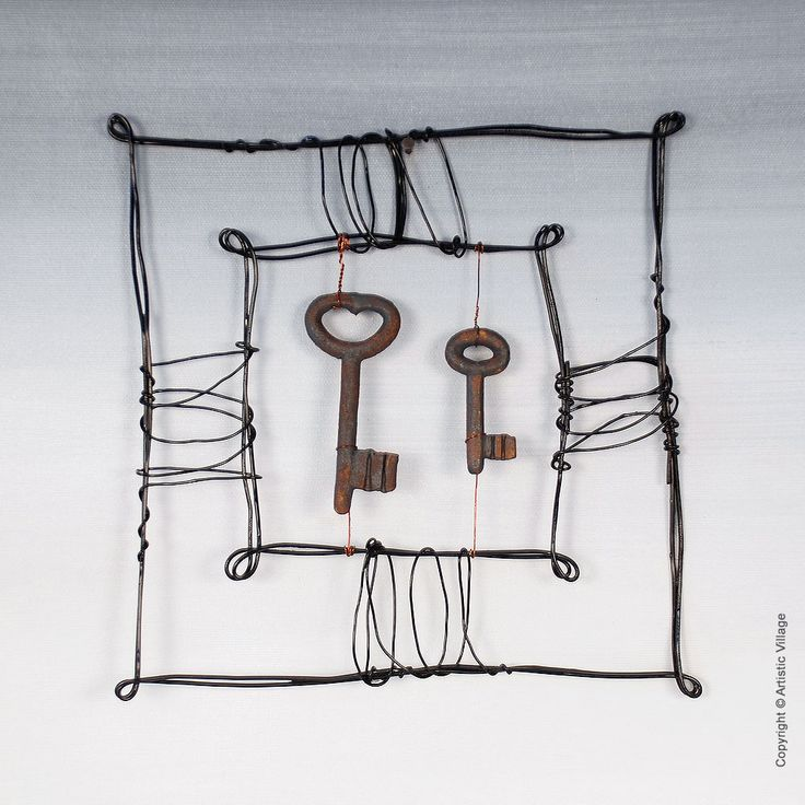 Unique handmade and hand-painted (Wire construction) for the wall. Always carrying the maker's signature.