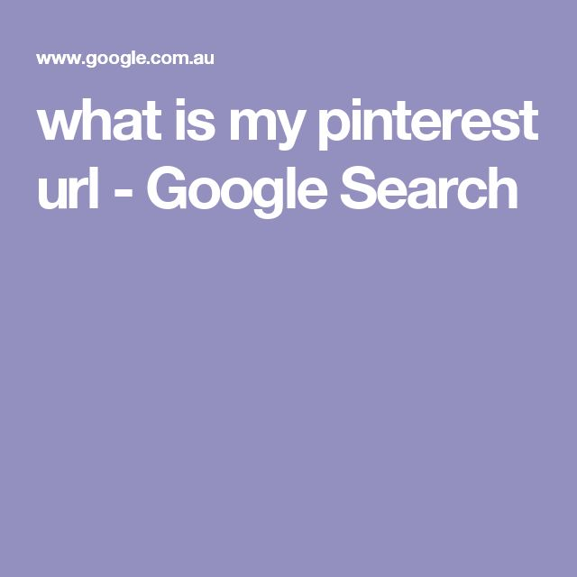 what is my pinterest url - Google Search