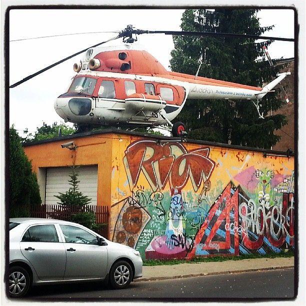 Found on #Starpin #warsaw #warszawa #helicopter #mural #ursus