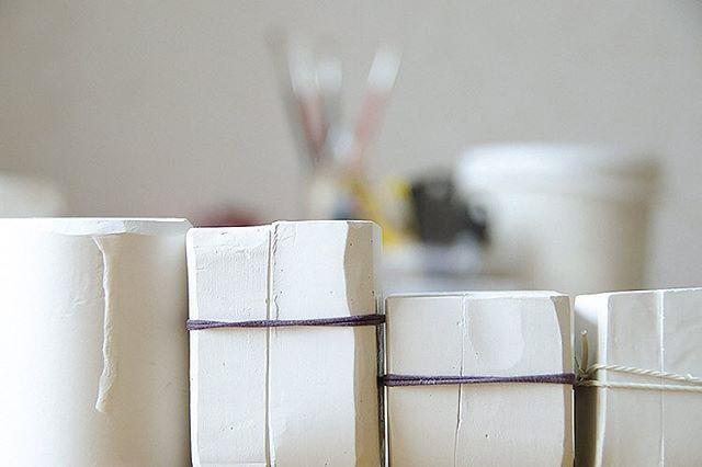 Molds for pendants and earring parts #olgakabie #olgakabieprocess #porcelain #process