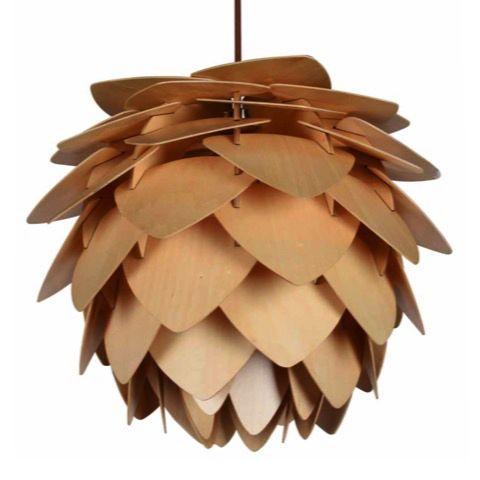 Pine Cone Plywood Pendant Light