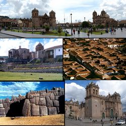 Cusco (pron.: /ˈkuːzkoʊ/), often spelled Cuzco (Spanish: Cuzco, [ˈkusko]; Quechua: Qusqu or Qosqo, IPA: [ˈqɔsqɔ]), is a city in southeastern Peru, near the Urubamba Valley of the Andes mountain range. Located on the eastern end of the Knot of Cuzco, its elevation is around 3,400 m (11,200 ft).  Cusco was the site of the historic capital of the Inca Empire and was declared a World Heritage Site in 1983 by UNESCO.