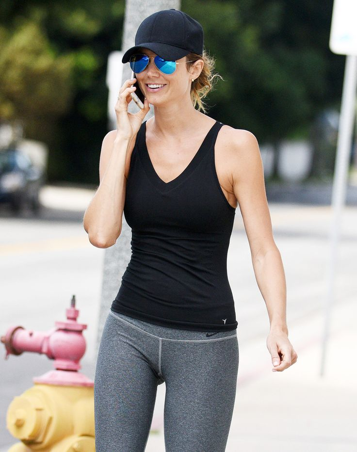 tiny new mom stacy keibler looks super skinny in workout