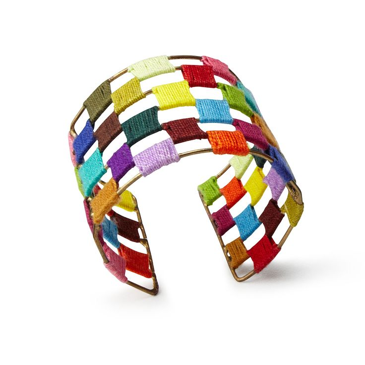 This handmade Threaded Spectrum Cuff can add some color to a winter outfit, but it looks great in any season! | $28 | UncommonGoods