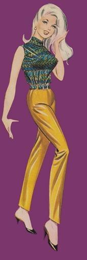 Vintage fashion illustration - Frederick's of Hollywood