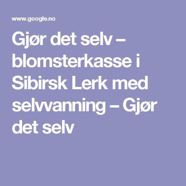 Gjør det selv – blomsterkasse i Sibirsk Lerk med selvvanning – Gjør det selv