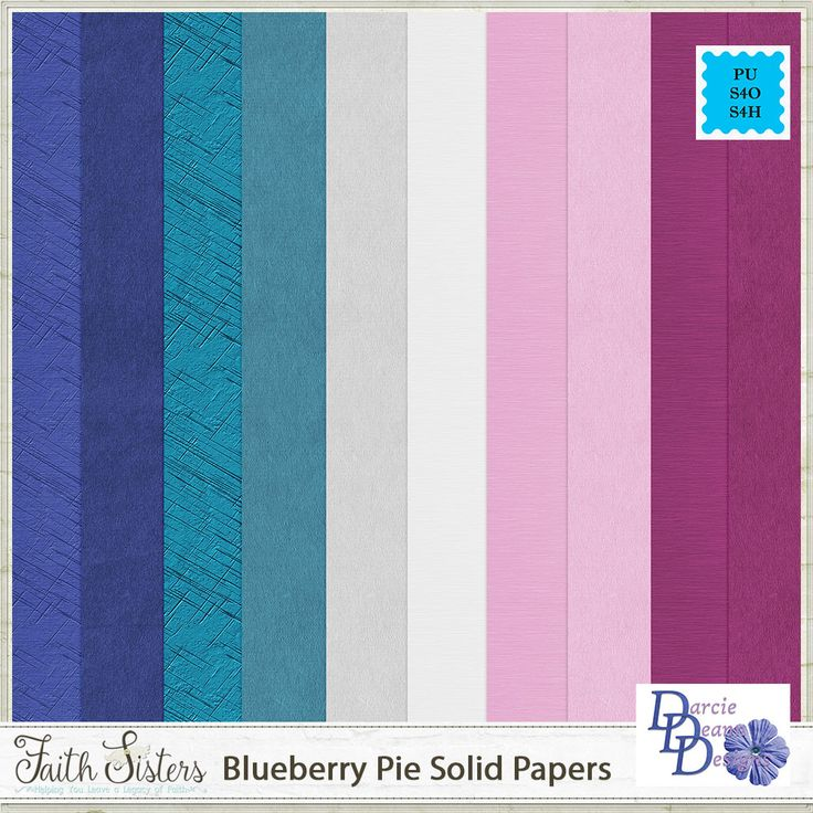 Blueberry Pie Solid Papers
