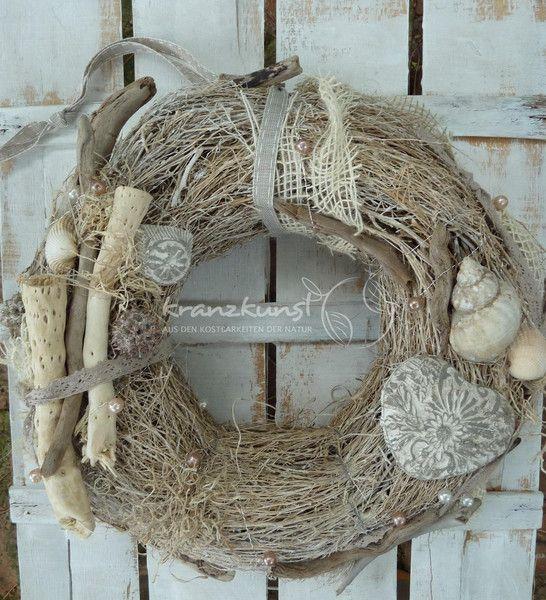 Kränze - NATURKRANZ♥ Shabby ♥ Türkranz Tischkranz SHABBY - ein Designerstück von kranzkunst bei DaWanda