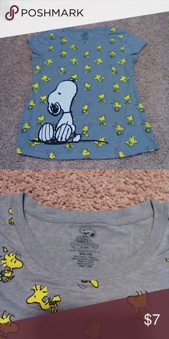 Kids snoopy shirt Grey Snoopy shirt Shirts & Tops Tees - Short Sleeve