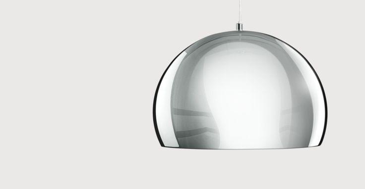 Boule Pendant, Chrome & Gloss White | made.com