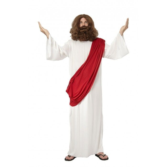 This Jesus robe will add something a little different to your Christmas Party. The Jesus costume is available in sizes medium and large, the robe comes with a drape attached.  We ship Australia wide.