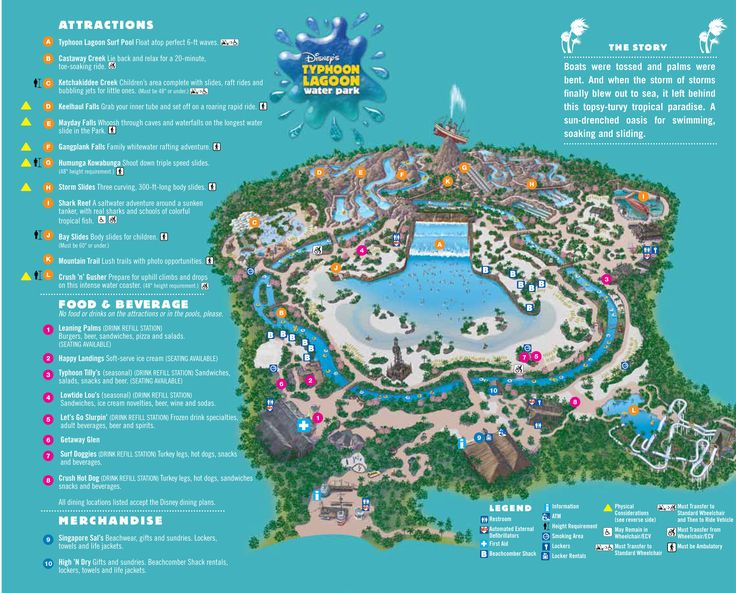 Disney's Typhoon Lagoon Map