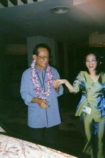 Dancing with former President Fidel V. Ramos (FVR)