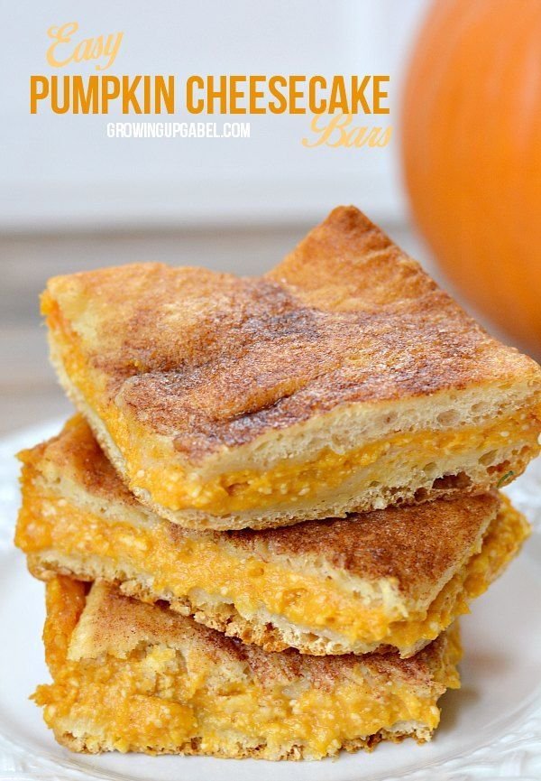 Don't love pumpkin pie? Try these easy pumpkin cheesecake bars instead! Just 5 ingredients and 30 minutes in the oven and a perfect Thanksgiving dessert is ready!