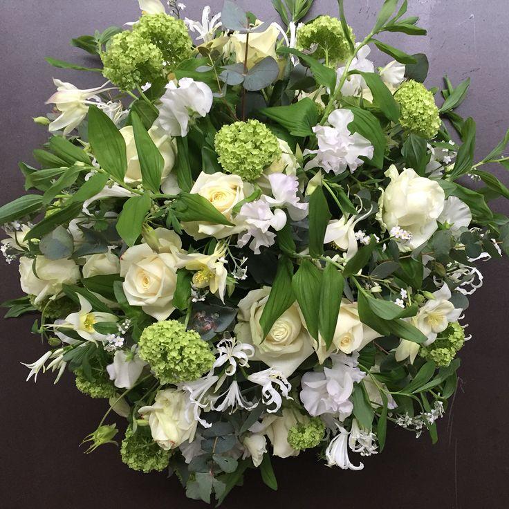 White green funerair Flowers seasonflowers
