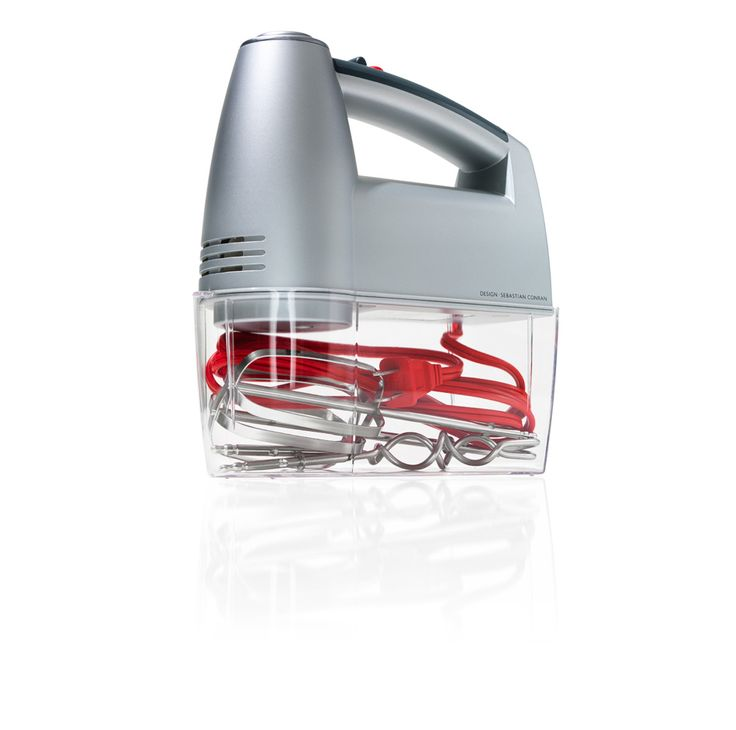 No more batter-fingered searches for your mixer attachments: This clever gadget features a clip-on chamber that holds the beaters and power cord.