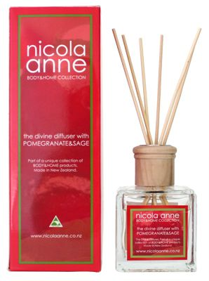Nicola Anne Diffuser Set – Pomegranate & Sage – Candles of New Zealand | Shop New Zealand NZ$48.90