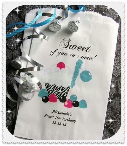 Sweet 16 party bags