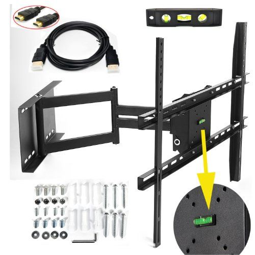 lumsing universal corner tv wall mount bracket with full motion swing u0026 tilting