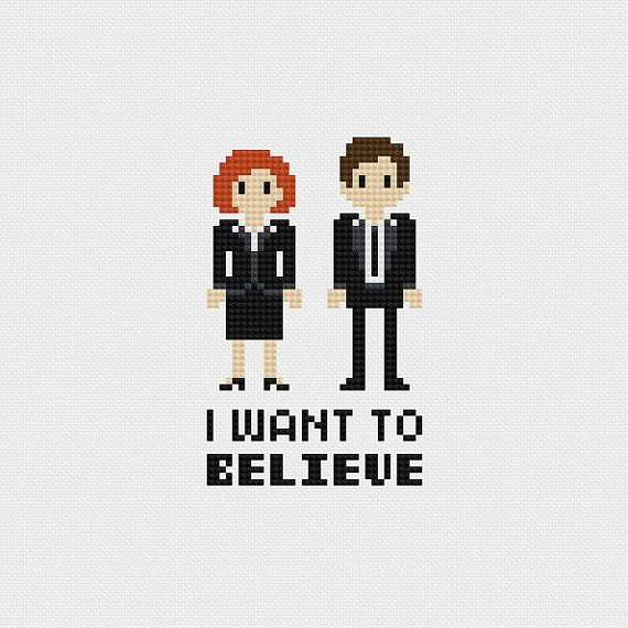 The X-Files I Want to Believe Cross Stitch par pixelsinstitches