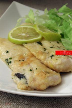 Fettine di merluzzo al limone Con insalta di lenticchie come contorno, oppure zucchine trifolate e cous cous