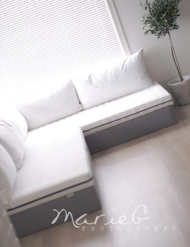 Diy Sofa With Ikea Diy Furniture Couch Diy Sofa Homemade Sofa